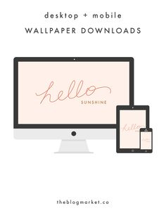FREE: A cute wallpaper download for your computer desktop, tablet, or mobile device.