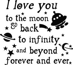 Trading Phrases: I love you to the moon and back space theme room  GOODNIGHT SWEET FRIENDS  BRILLIANT FUN NIGHT