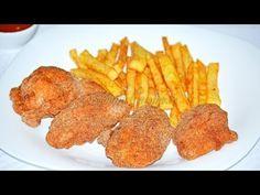 Aripioare picante ca la KFC Fried Chicken, Tandoori Chicken, Kfc, Food Videos, Foodies, Wings, Meat, Breakfast, Ethnic Recipes