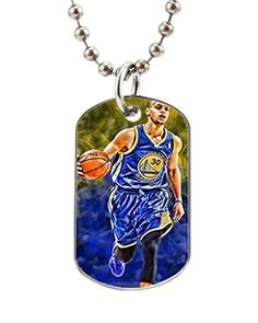 VOLLET Hot Sale Stephen Curry Playing Personalized CatDog Tag Pet Id Tag Necklace ** Check out this great product.