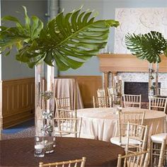Elephant Ear Wedding Centerpiece  - Wedding Flowers