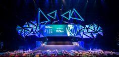 Stage Design - TechSummit 2017 on Behance Tv Set Design, Stage Set Design, Event Design, Design Ideas, Alvin Ailey, Royal Ballet, Dark Fantasy Art, Sitemap Design, Stage Backdrop Design