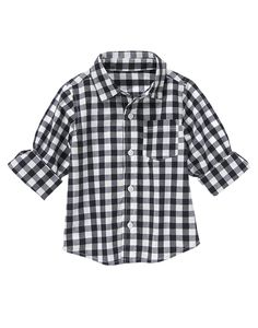 Preppy gingham poplin is both dressy and relaxed.