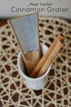 Lovely and versatile hand crafted cinnamon grater that also works for nutmeg. Use with freshly harvested cinnamon for amazing taste.