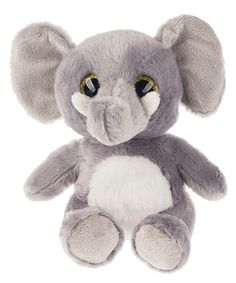 Gray Sweet Chum Elephant Plush Toy by GANZ #zulily #zulilyfinds