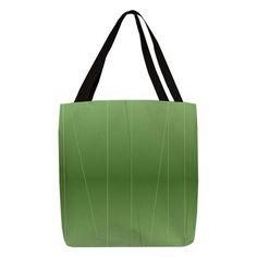 Green Modern Line Print Polyester Tote Bag
