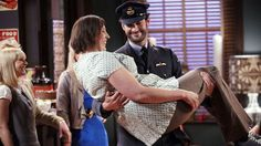 """Miranda"" bbc, miranda Hart (call the midwife) and Tom Ellis"