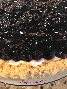 Blueberry Cheesecake Tart Cheesecake Cookies, Blueberry Cheesecake, Shortbread Cookies, How To Make Cheesecake, Easy No Bake Desserts, Blueberry Recipes, Girl Cakes, Cheesecakes, Good Food