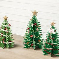 Forever Evergreen Project Kit by Stampin' Up! Christmas Tree Paper Craft, Christmas Tree Graphic, Cute Christmas Tree, Handmade Christmas Tree, Christmas Tree Painting, Miniature Christmas Trees, Christmas Makes, Homemade Christmas Gifts, Christmas Tree Decorations