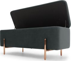 Asare bench, copper from Made.com. Grey/Copper. NEW The devil's in the details and Asare's rounded copper legs make it both refined and contemporary..