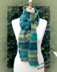 sjaal greenie wolbolcreatie met gratis patroon