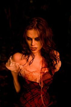 Trick R'Treat Anna Paquin as a werewolf. Loved how she was dressed as red riding hood.