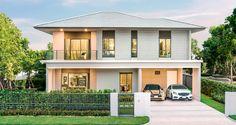 เศรษฐสิริ ปิ่นเกล้า - กาญจนาฯ Modern House Plans, Architecture Design, Exterior, House Design, House Styles, Villas, Room, Houses, Home Decor