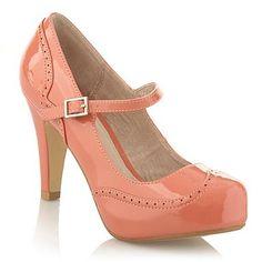 Peach brogue court shoes - High heel shoes - Shoes & boots - Women -