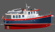 The Neville 45 Tug is a trawler for those who want the rugged, no-nonsense look of a traditional tug, along with the interior features and amenities of a beautiful yacht.