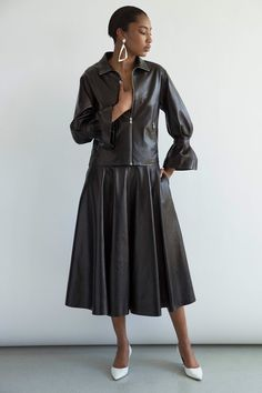 ...cool take on a classic leather jacket...