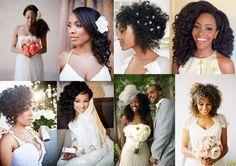 Penteados para noivas com cabelos afro | Mariée: Inspiração para Noivas e Casamentos