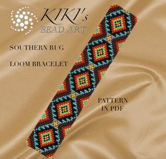 Bead loom pattern Southern rug ethnic inspired by KikisBeadArts
