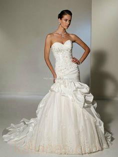 wedding gown - Style Sophia Tolli Odelita chapel train sweetheart neckline Dropped Waist Lace And Tulle And Taffeta Crystal www.kalianas.com