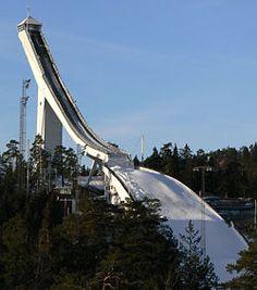 Holmenkollbakken is ski jump located  in Oslo, Norway. Holmenkollen has hosted the Holmenkollen Ski Festival since 1892