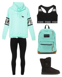 """Back to school outfit #3"" by snhollick ❤ liked on Polyvore featuring мода, Peace of Cloth, Victoria's Secret PINK, UGG Australia, Victoria's Secret и JanSport"