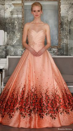 ROMONA KEVEZA bridal spring 2017 strapless surplice sweetheart organza ball gown wedding dress (rk7411) mv red bougainvillea print detachable cathedral train #bridal #wedding #weddingdress #weddinggown #bridalgown #dreamgown #dreamdress #engaged #inspiration #bridalinspiration #blush #pink #weddinginspiration #weddingdresses