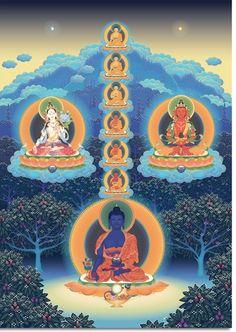 Tharpa españa, Buda de la medicina, Tara Blanca, Amitayus