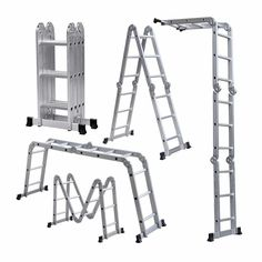 A Telescoping Ladder That Converts Into Multiple Ladders