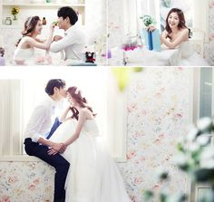 sweet Korean pre-wedding photo