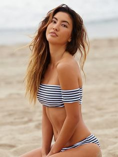 Free People Nikki Stripe Bikini Bottom , £40.00