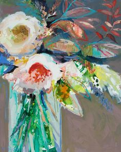 flowers in vase still life painting by erin fitzhugh gregory