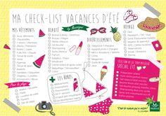 Ma checklist des vacances d'été à télécharger et imprimer pour ne rien oublier ! - Blog Carnets de Nature l Laboratoires Mességué