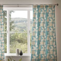 Curtain details for EFFIE, TEAL | Next Made To Measure