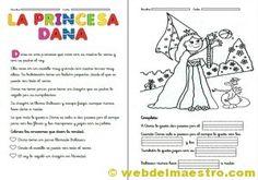 Fichas de comprension lectora. La princesa Dana.