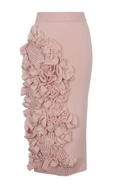 ~ Living a Beautiful Life ~ Decorated Cashmere Pencil Skirt by RUBAN for Preorder on Moda Operandi Skirt Pants, Dress Skirt, Pleated Skirt, Denim Skirt, Modest Fashion, Fashion Dresses, Fashion Pattern, Office Skirt, Fashion Details