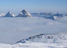 Mythen, Furggelenstock rechts aus SW (Fronalpstock), Schwyz