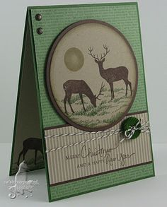 Masculine Christmas card ... change the sentiment for a masculine birthday card. this really cool