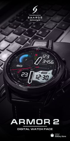 Digital Watch Face, Samsung Store, Y Store, Gear S3 Frontier, Watch Faces, Live Wallpapers, Smartwatch, Cool Watches, Gadgets
