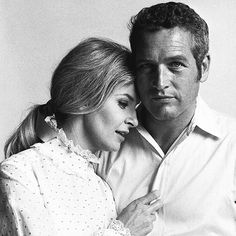 Paul Newman and Joanne Woodward, photographed by Laurence Schiller in Los Angeles, 1970.