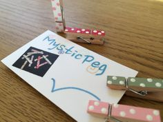 Varnished HandPainted Polka Dot Mini Wooden Clothes by MysticPeg, £3.90
