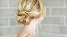 Hair DIY: Low Bun with Crisscross - Inspired By This