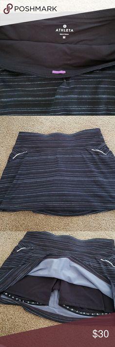 Athlete skorts size med! Comfy! Athlete skorts size med! Comfy! Blues and blacks and grays...so cute! Athleta Shorts Skorts