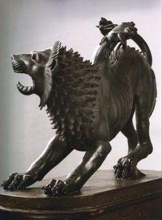 Quimera de Arezzo, etrusca, probablemente del siglo 5 aC