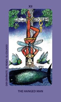 """August 21 Tarot Card: The Hanged Man (Jolanda deck) """"Surrender to what is. Let go of what was. Have faith in what will be."""""""