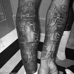 Nuevos tatuajes de Neymar y Gabriel Jesus.