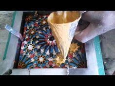(101) صناعة الزليج البلدي الاسمنتي( بلاط الأسمنت)Fabrication carreaux ciment - YouTube