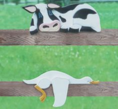 All Yard & Garden Projects - Cow & Goose Rail Pets Pattern Wood Yard Art, Wood Art, Tole Painting, Painting On Wood, Winfield Collection, Vase Crafts, Paper Mache Sculpture, Wooden Cutouts, Garden Deco