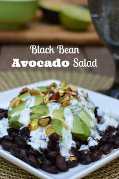 This delicious black bean and avocado salad is also full of belly fat burning foods!  #YourCareEverywhere #ad @yourcaree