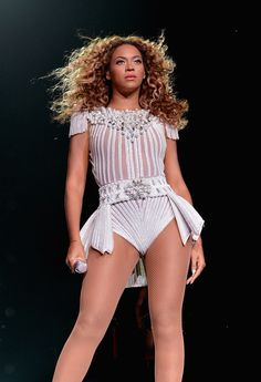 White beaded peplum for Beyonce in Connecticut.