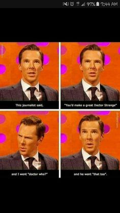 LOL, no, please don't make him play something as stupid as Doctor Who .... No need, filmmakers, no need :'D